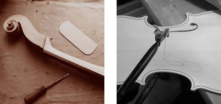 Making of fine stringed instruments